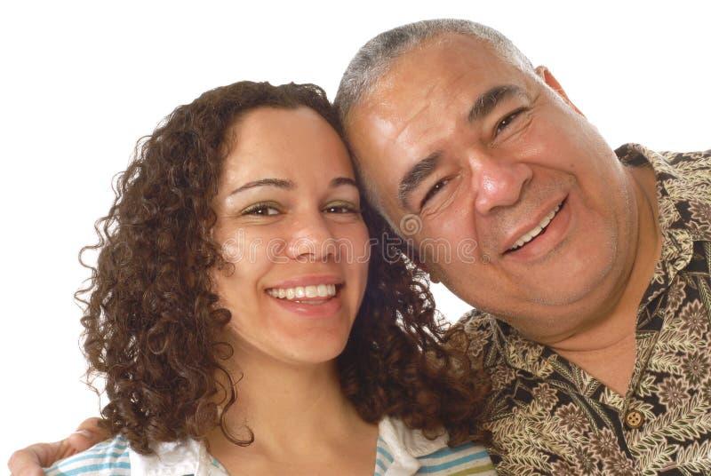 Papa met zijn dochter royalty-vrije stock foto
