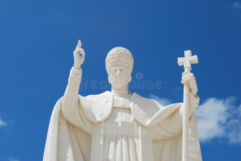 Papa Pio XII no santuário de Fatima imagem de stock royalty free