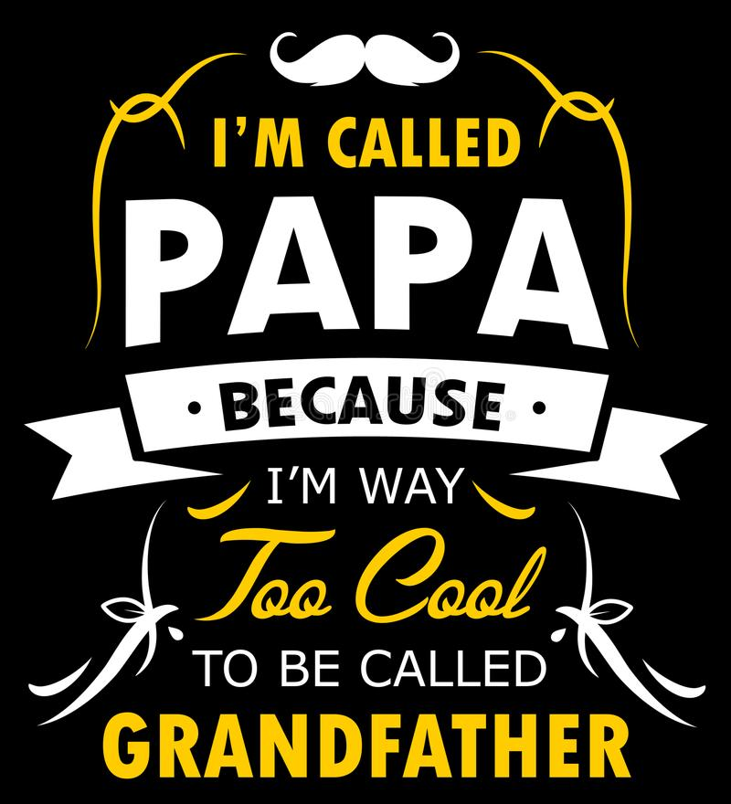 Papa Shirt Design For Proud FAR royaltyfri illustrationer