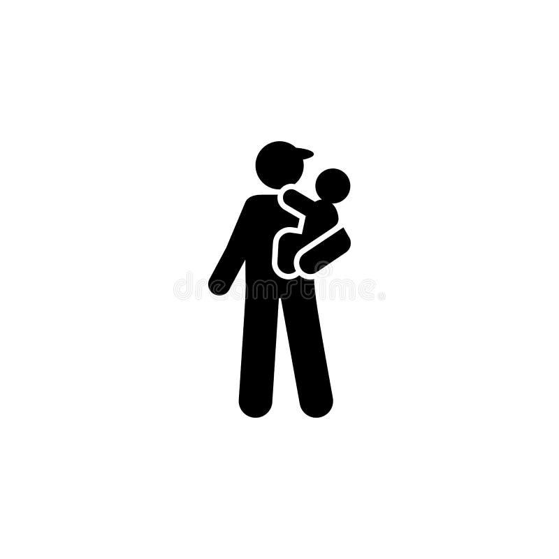 Papa, soins des enfants, icône de bébé ?l?ment d'ic?ne de parent Ic?ne de la meilleure qualit? de conception graphique de qualit? illustration libre de droits