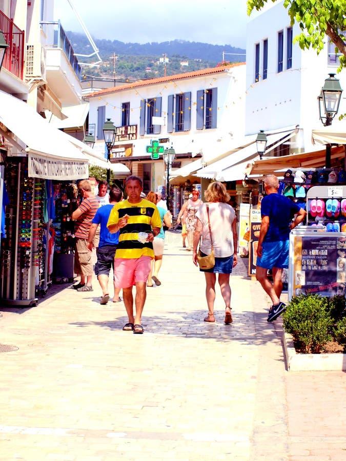 Papadiamanti Skiathos Town Greece Editorial Image Image of main