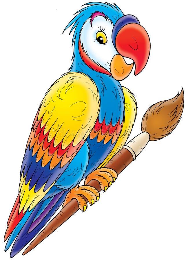 Papagaio ilustração stock