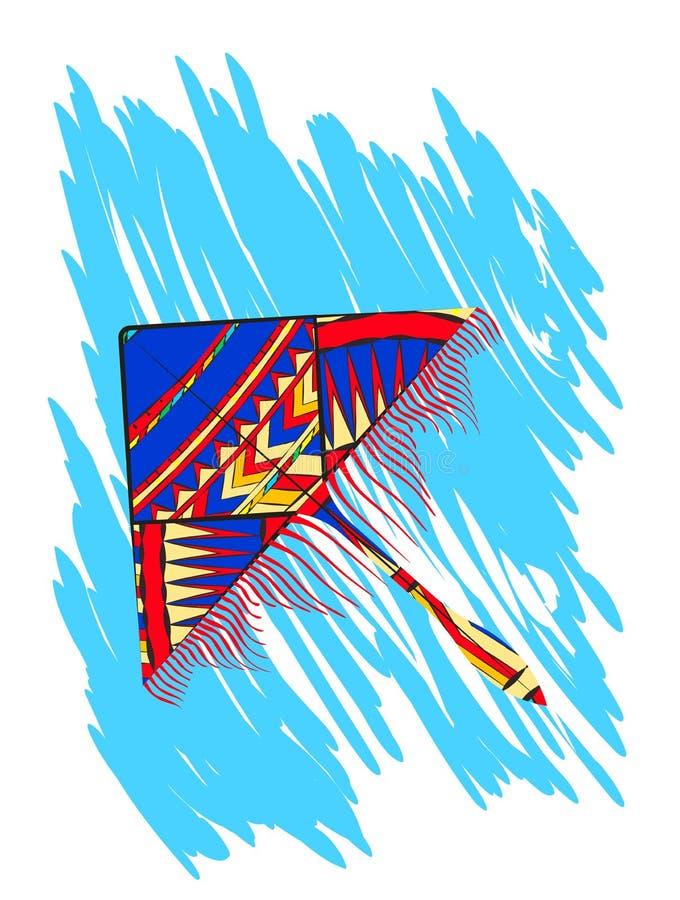 Papagaio acima nas nuvens ilustração royalty free