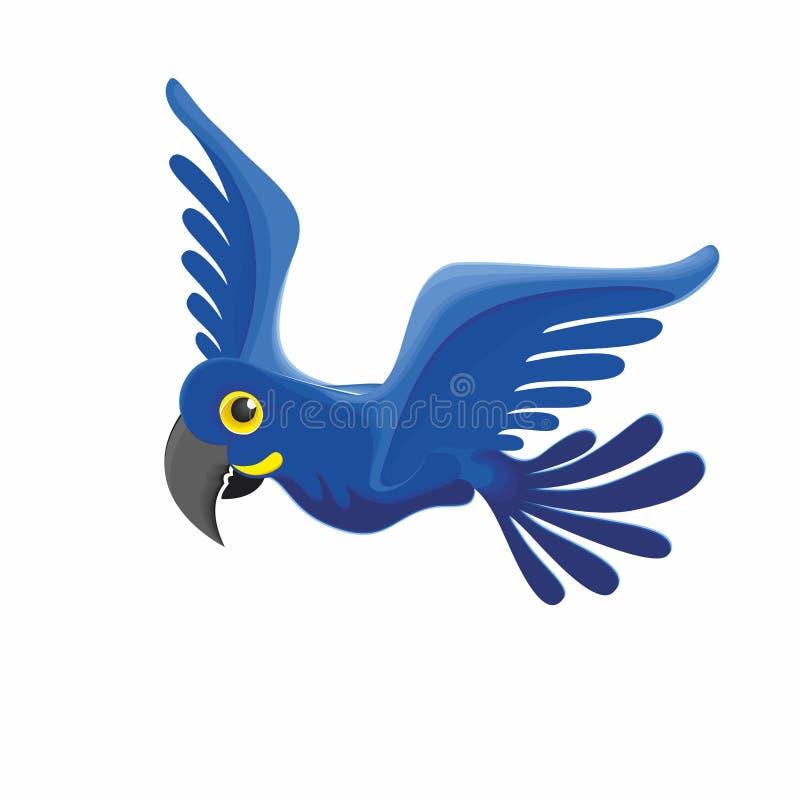 Papagaio azul - um pássaro raro ilustração royalty free