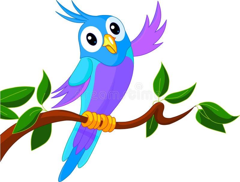 Papagaio bonito dos desenhos animados ilustração do vetor