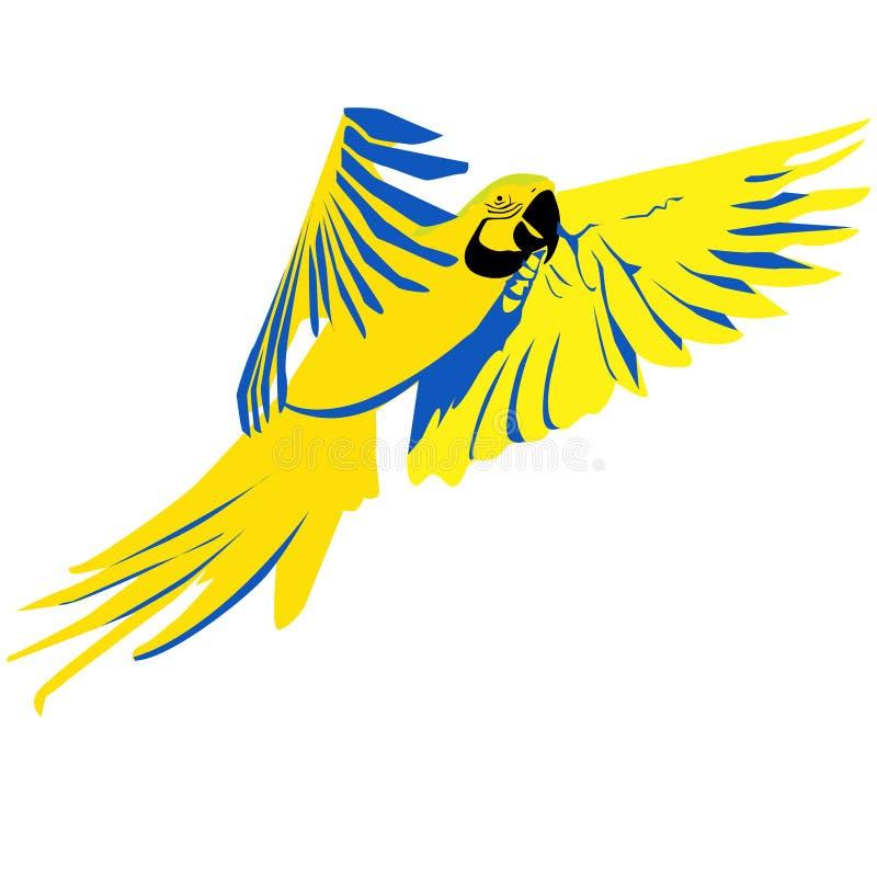 Papagaio brilhante do voo ilustração stock