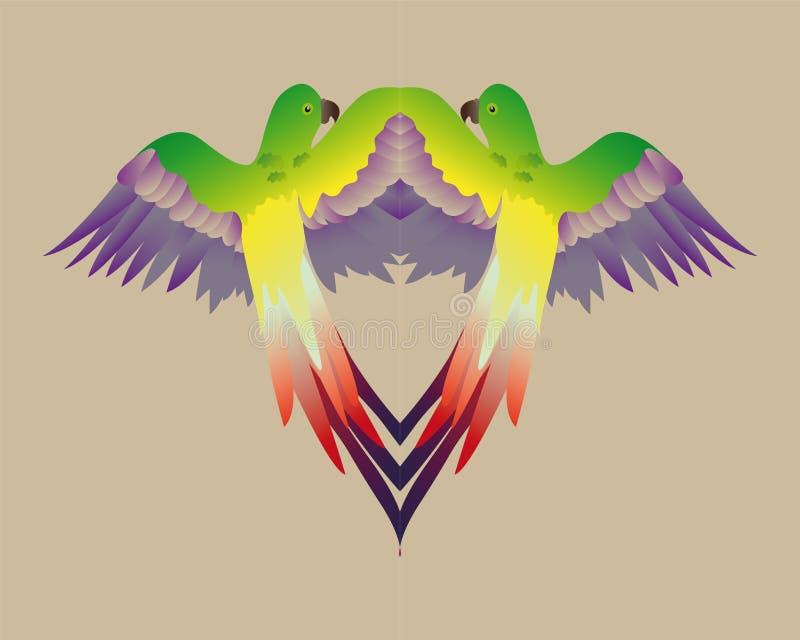 Papagaio colorido do espelho imagens de stock royalty free