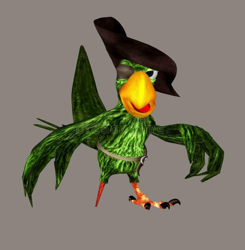 Papagaio do pirata ilustração stock