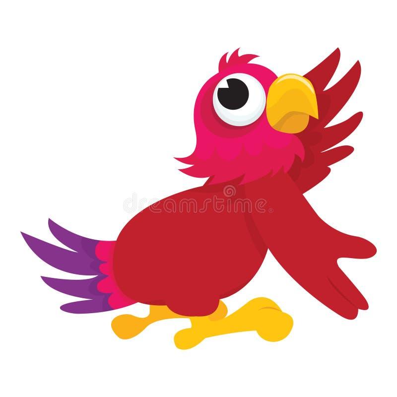 Papagaio dos desenhos animados ilustração stock