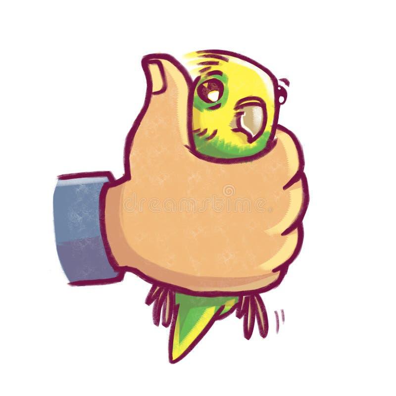 Papagaio feliz à disposição imagem de stock royalty free