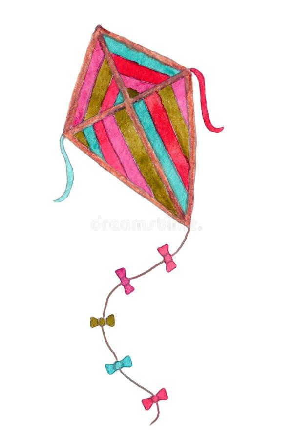 Papagaio multicolorido de desenho aquarela imagens de stock