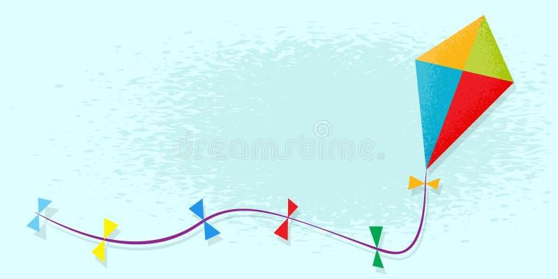 Papagaio no céu ilustração stock
