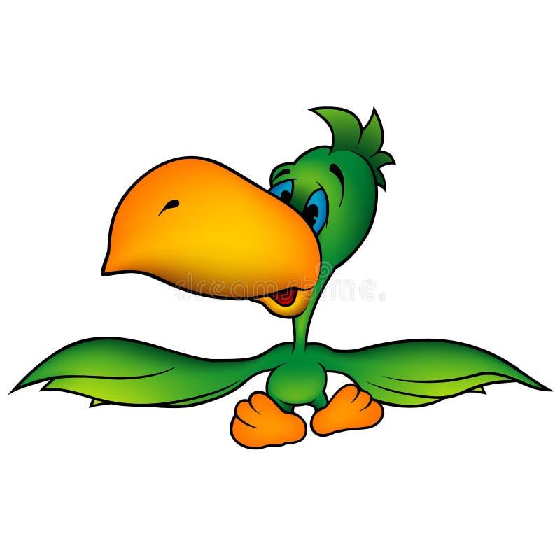 Papagaio verde ilustração royalty free