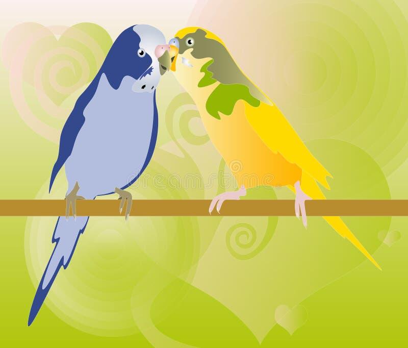 Papagaios ilustração do vetor