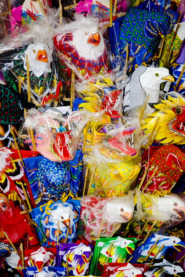 Papagaios para a venda imagem de stock royalty free