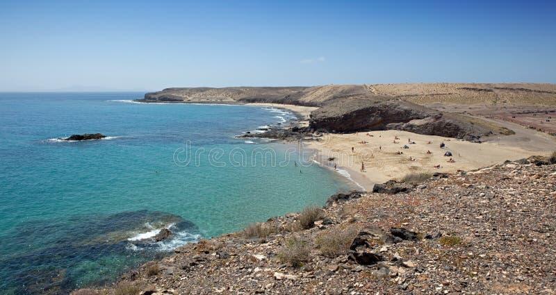 Download Papagayo beach stock image. Image of vacations, canary - 17131563