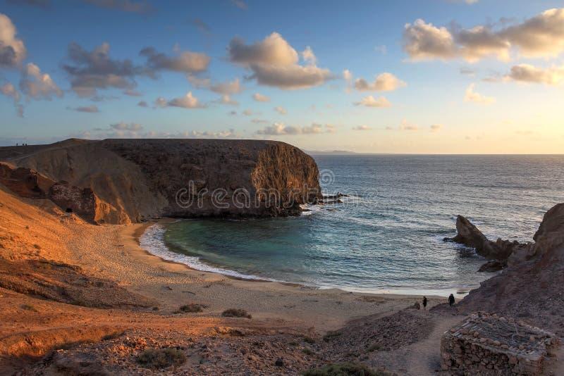 Papagayostrand, Lanzarote, Spanje royalty-vrije stock fotografie