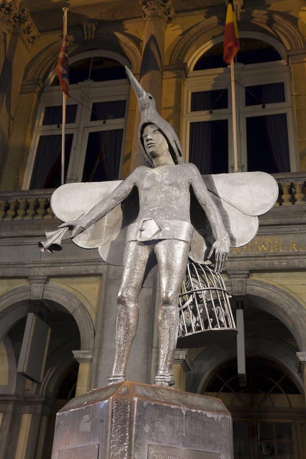Papageno在市布鲁日 免版税库存图片