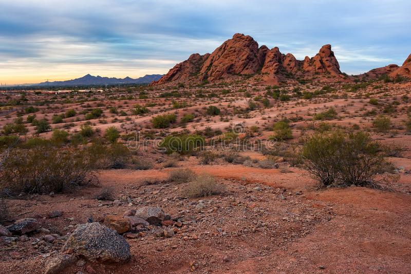 Papago parkerar i Phoenix, Arizona fotografering för bildbyråer