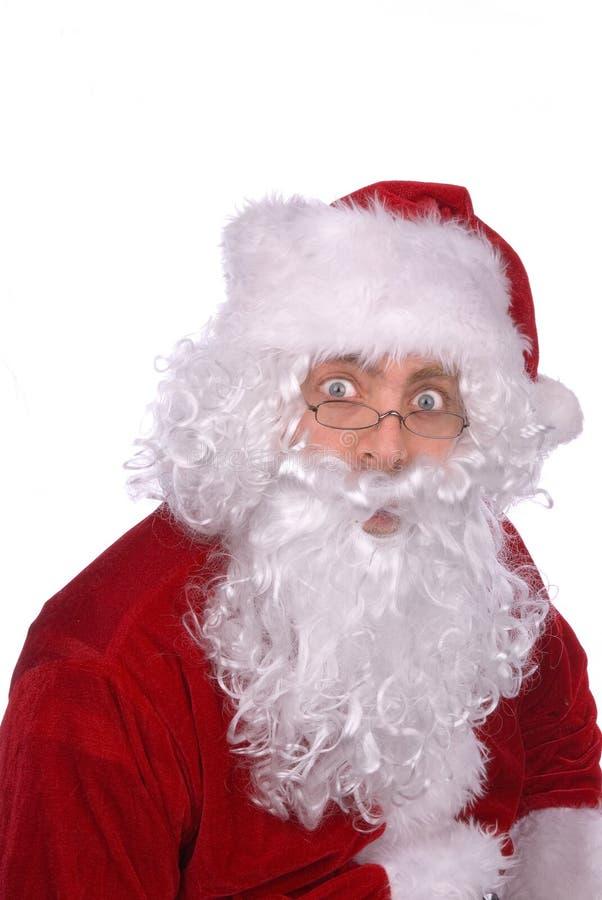 Papai Noel é surpreendido foto de stock royalty free