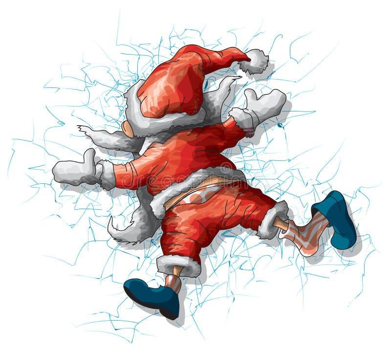 Papai Noel ilustração royalty free