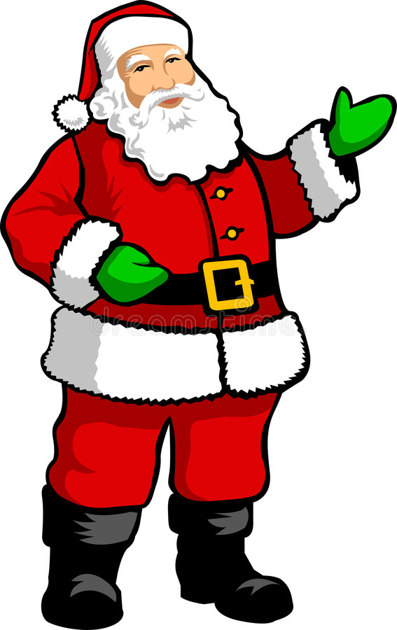 Papai Noel /AI ilustração do vetor