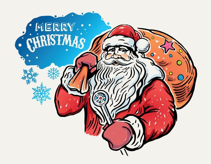 Papai Noel alegre ilustração royalty free