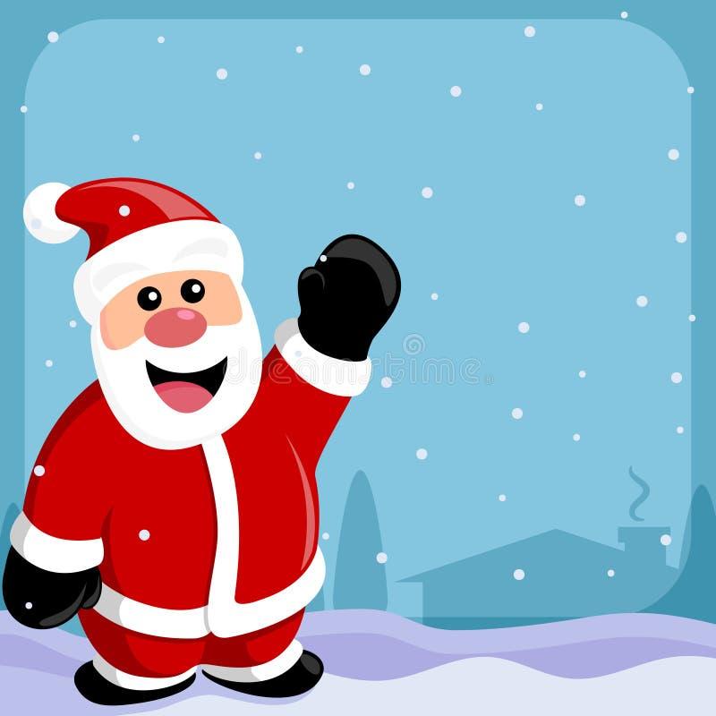 Papai Noel & beira ilustração stock