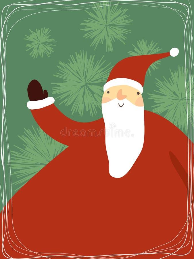 Papai Noel bonito ilustração do vetor