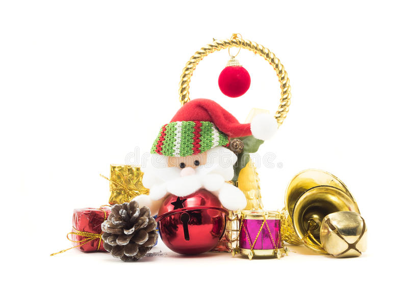 Papai Noel bonito cerca pela decoração fotos de stock royalty free