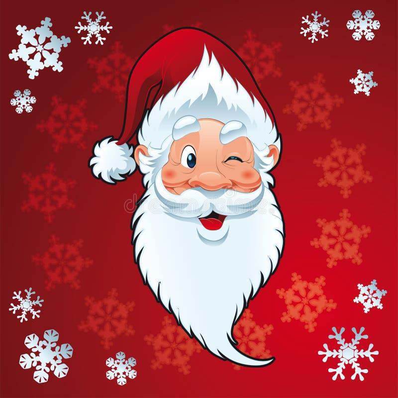 Papai Noel - cartão de Natal ilustração do vetor