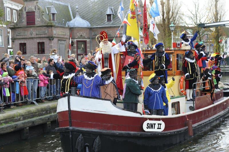 Papai Noel chega em Holland foto de stock