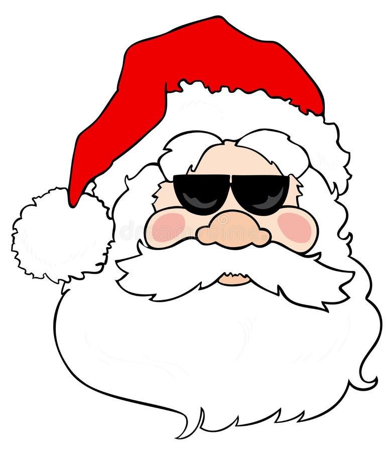 Papai Noel com óculos de sol. ilustração do vetor