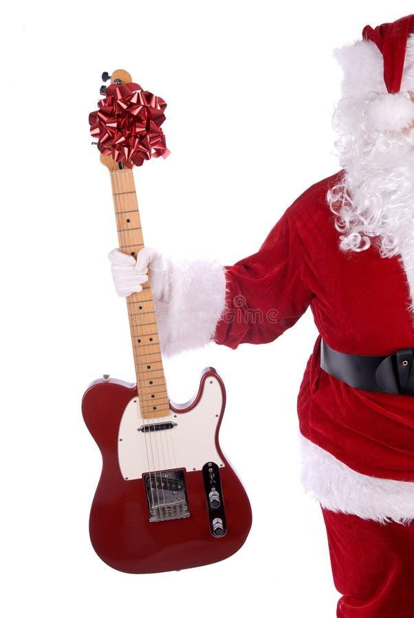 Papai Noel com guitarra fotos de stock royalty free