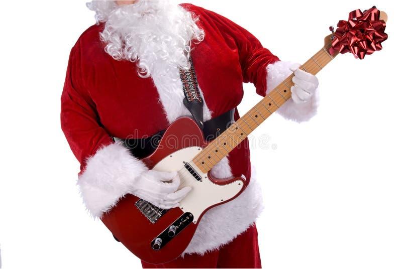 Papai Noel com guitarra imagem de stock