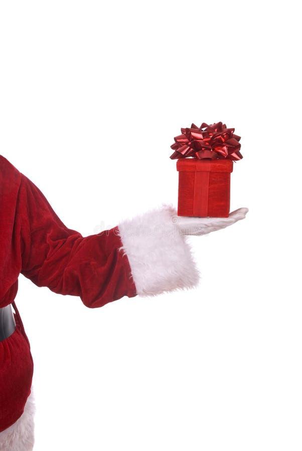 Papai Noel com presente foto de stock