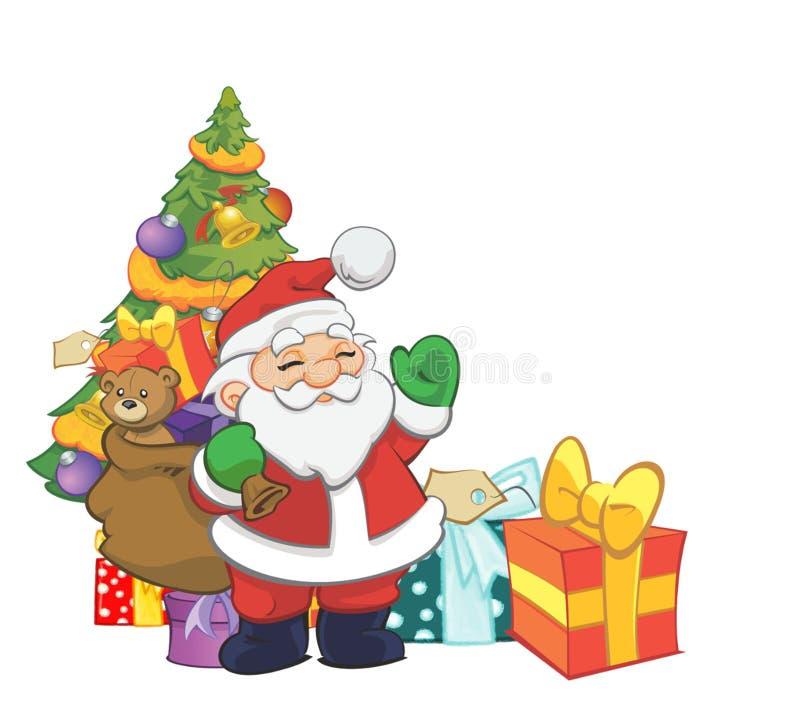 Papai Noel com presentes foto de stock