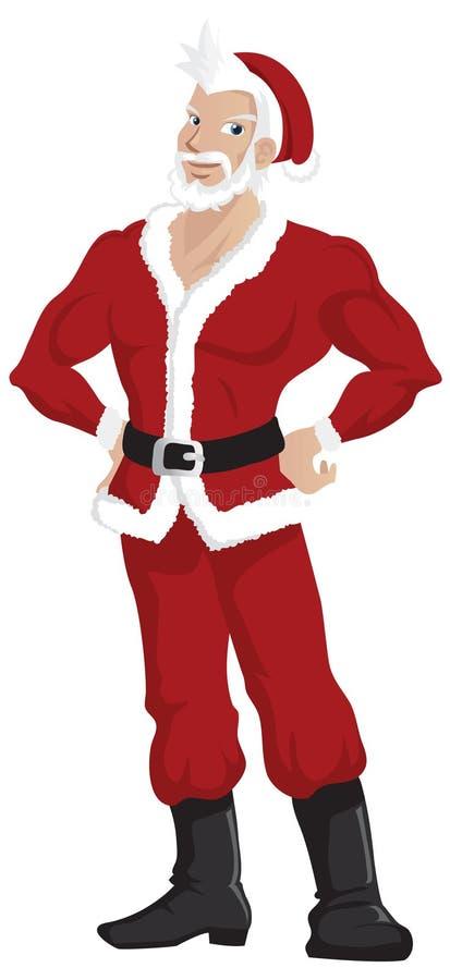 Papai Noel considerável quente ilustração do vetor