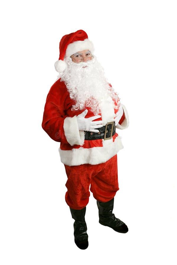 Papai Noel - corpo cheio isolado foto de stock royalty free