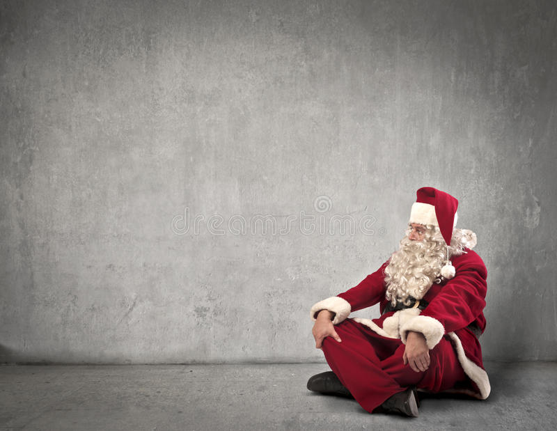 Papai Noel de assento imagem de stock