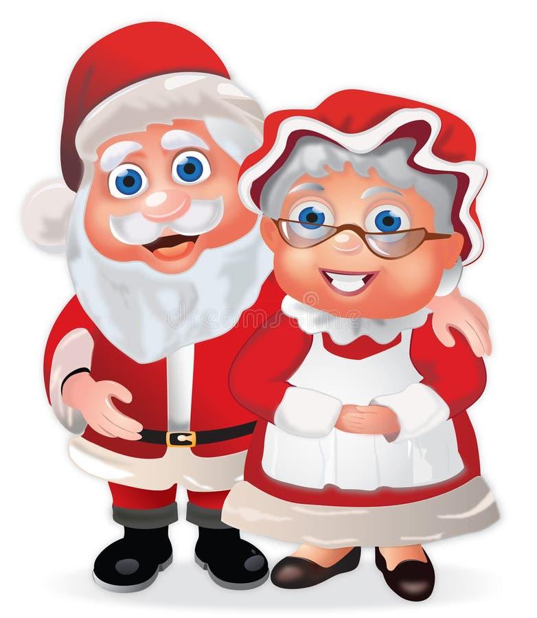 Papai Noel e Sra. Claus ilustração stock