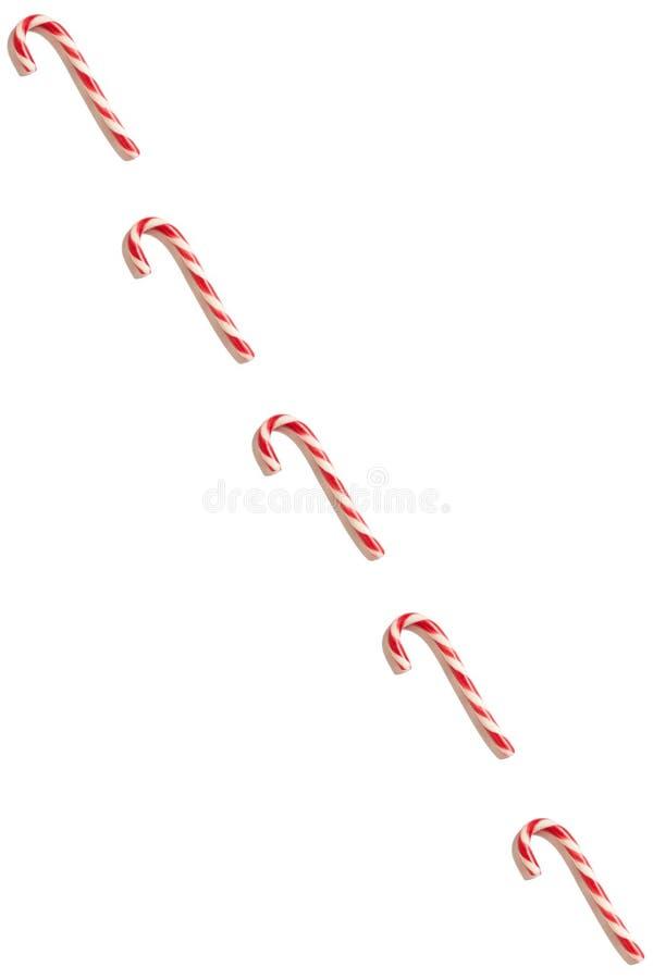 Papai Noel em um sledge Fundo branco Símbolo do ano novo Cone dos doces do Natal imagens de stock