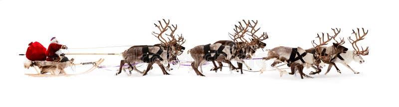 Papai Noel em um trenó imagem de stock