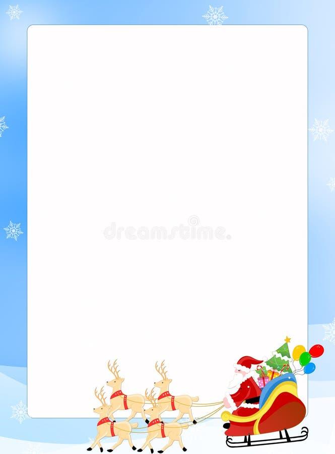 Papai Noel em uma beira do sledge ilustração do vetor