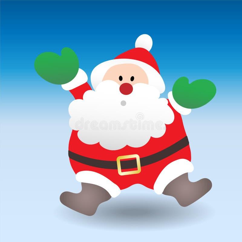 Papai Noel está vindo ilustração do vetor