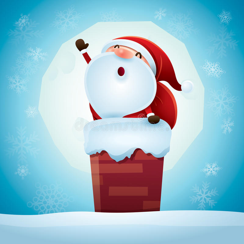 Papai Noel está vindo! ilustração royalty free