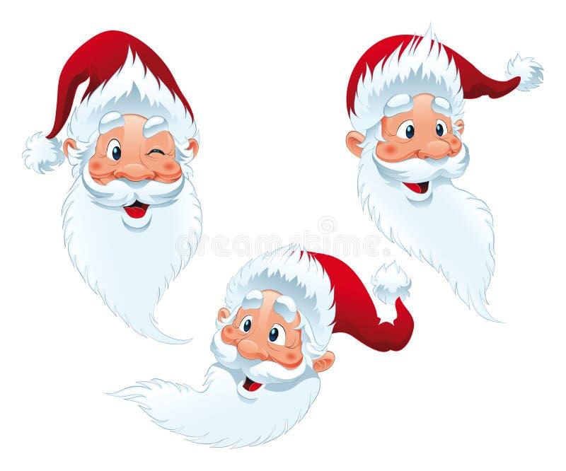 Papai Noel - expressões ilustração do vetor