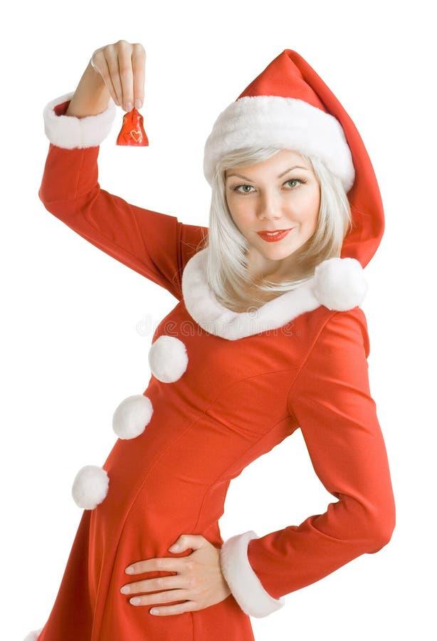 Papai Noel fêmea fotografia de stock