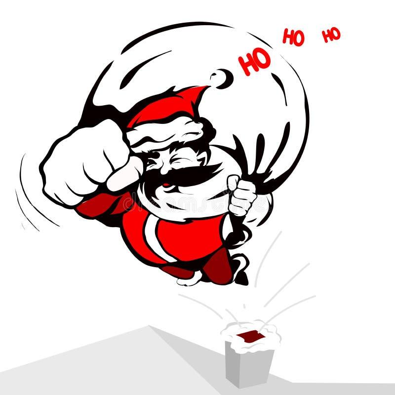 Papai Noel fresco ilustração stock