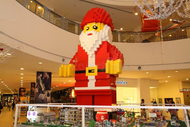 Papai Noel gigante fotos de stock